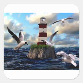 Sticker Carré Voler d'oiseaux de phare