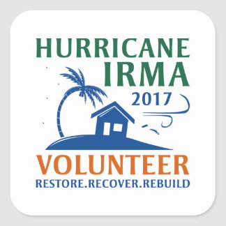 Sticker Carré Volontaire d'Irma d'ouragan