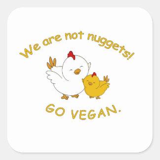 Sticker Carré Vont le végétalien - poussin mignon