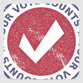 Sticker Carré vos comptes de vote