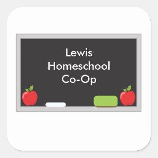 Sticker Carré Votre tableau op du homeschool Co