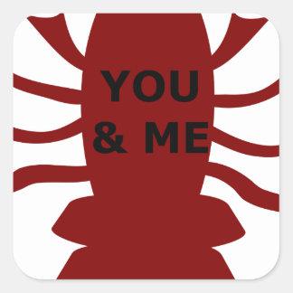 Sticker Carré Vous et moi êtes des homards