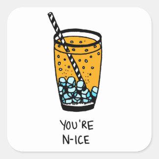 Sticker Carré Vous êtes Nice