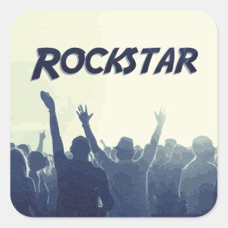 Sticker Carré Vous êtes un Rockstar !