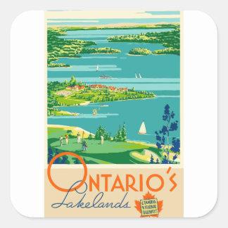 Sticker Carré Voyage vintage Ontario Canada