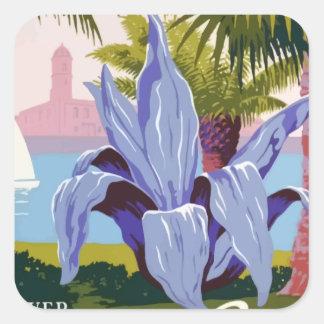 Sticker Carré Voyage vintage Porto Rico