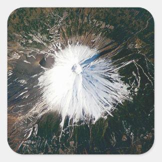 Sticker Carré vue aérienne du mont Fuji
