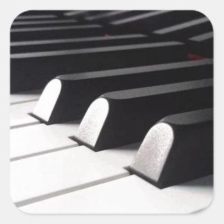 Sticker Carré Vue de piano