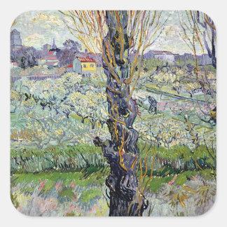 Sticker Carré Vue de Vincent van Gogh | d'Arles, 1889
