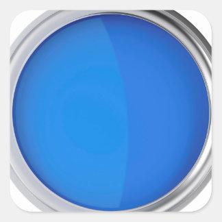 Sticker Carré Vue supérieure de peinture bleue