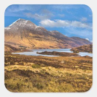 Sticker Carré Vues des montagnes