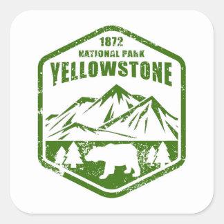 Sticker Carré Yellowstone