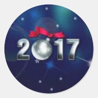 sticker classique rond 2017