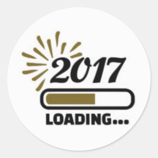sticker classique rond 2017 loding