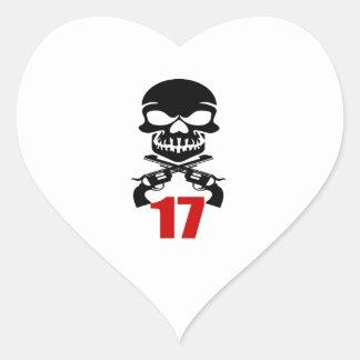Sticker Cœur 17 conceptions d'anniversaire