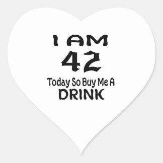 Sticker Cœur 42 achetez-aujourd'hui ainsi moi une boisson