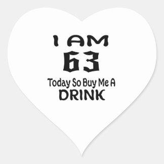 Sticker Cœur 63 achetez-aujourd'hui ainsi moi une boisson