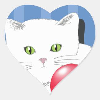 Sticker Cœur 63White Cat_rasterized
