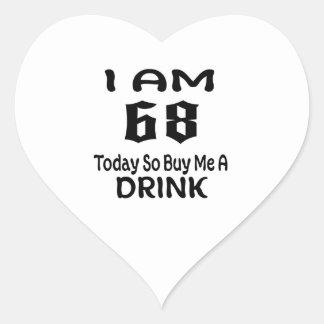 Sticker Cœur 68 achetez-aujourd'hui ainsi moi une boisson