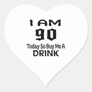 Sticker Cœur 90 achetez-aujourd'hui ainsi moi une boisson