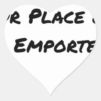 Sticker Cœur A CONSOMMER SUR PLACE OU À EMPORTER - Jeux de mots