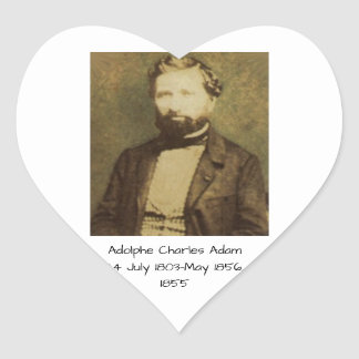 Sticker Cœur Adolphe Charles Adam, 1855