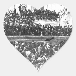 Sticker Cœur Adresse en second lieu inaugurale Washingto