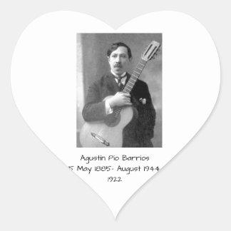 Sticker Cœur Agustín Pio Barrios, 1922