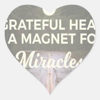 Sticker Cœur Aimant reconnaissant de miracle de coeur