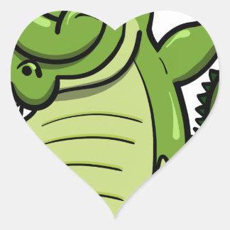 Sticker Cœur Alligator tamponnant d'animaux