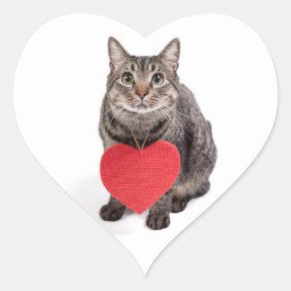 Sticker Cœur Amour de chat