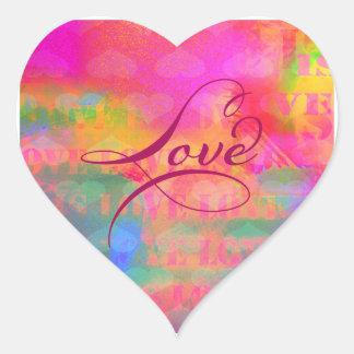 Sticker Cœur Amour de coeur de Saint-Valentin