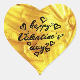 Sticker Cœur Amour de l'or | de calligraphie de la heureuse