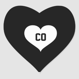 Sticker Cœur Amour du Colorado