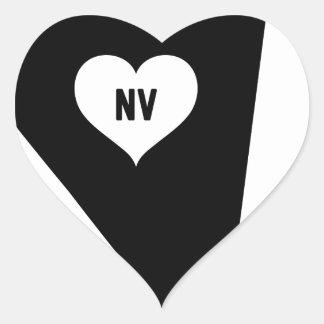 Sticker Cœur Amour du Nevada