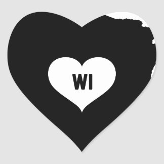 Sticker Cœur Amour du Wisconsin