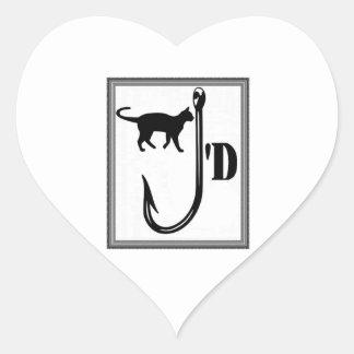 Sticker Cœur Amour félin
