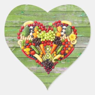 Sticker Cœur AMOUR VÉGÉTALIEN - votre bois de vert de coeur