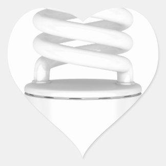 Sticker Cœur Ampoule fluorescente