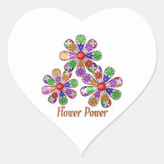 Sticker Cœur Amusement flower power