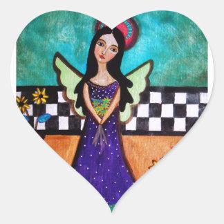 Sticker Cœur Ange mexicain