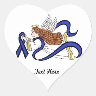 Sticker Cœur Ange mince de Blue Line