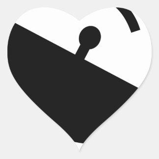 Sticker Cœur Antenne parabolique