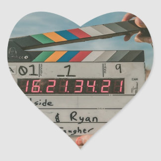 Sticker Cœur Appareil-photo de cinéma de film