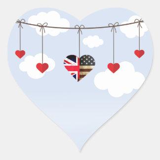 Sticker Cœur Approvisionnements royaux de cadeau de noce