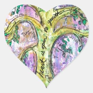 Sticker Cœur Arbre de croissance