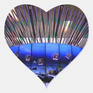 Sticker Cœur Arbre de Social d'aéroport de Singapour