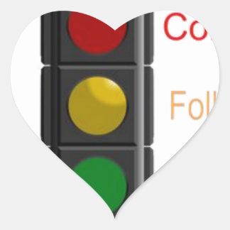 Sticker Cœur Arrêtez le réverbère