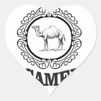 Sticker Cœur art de logo de chameau