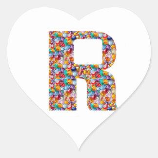 Sticker Cœur Art orné de bijoux de RRR pour l'ALPHA R : Grands